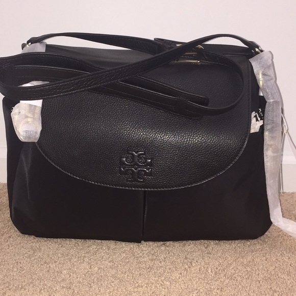 d1a912748408 Tory Burch Thea Nylon Leather Messenger Baby Bag